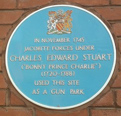 Photo of Charles Edward Stuart blue plaque
