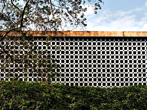 Flickr the perforated screen walls pool for Perforated brick wall