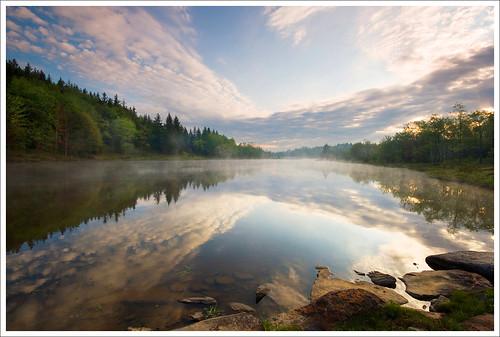 morning reflections searchthebest westvirginia davis blackwaterfallsstatepark pendletonlake tuckercounty impressedbeauty