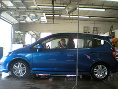 automobile, automotive exterior, compact mpv, vehicle, subcompact car, city car, compact car, honda fit, land vehicle,