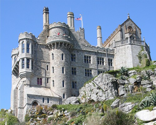 St.Michael's Mount  - Looking from the gardens on the north side by Stocker Images