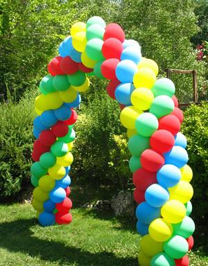 Un arco de colores flickr photo sharing for Arco decorativo jardin