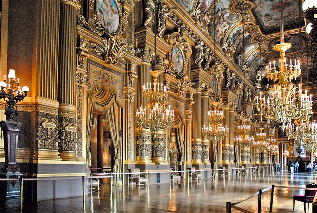 Le grand foyer de l'Opéra Garnier (Paris)
