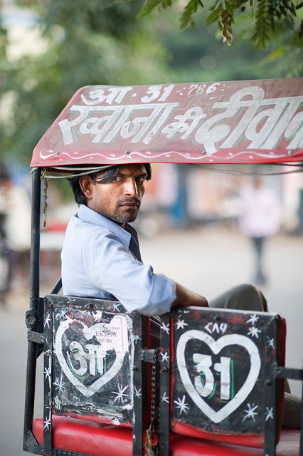 India #54: handsome rickshaw driver