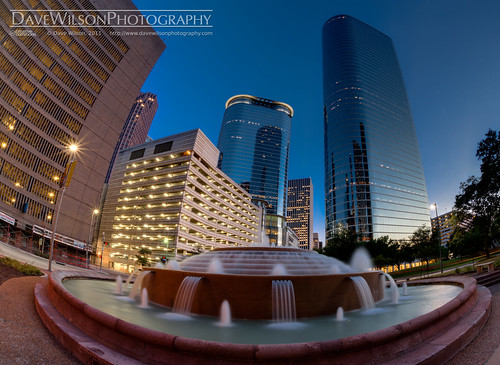 Smith Street at Dusk, Downtown Houston
