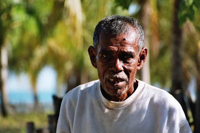 Portrait of an old man in Timor.