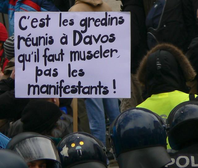 Mani anti WEF Genève
