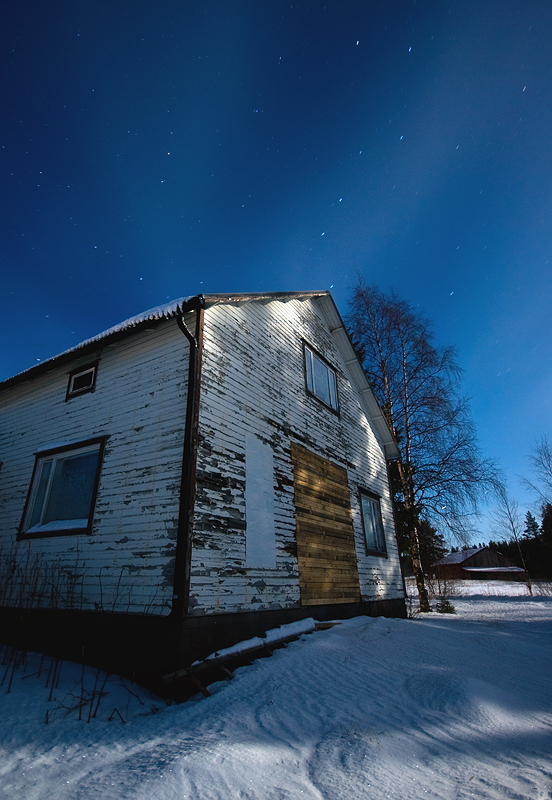 Patched House Under The Big Dipper by Joni Niemelä