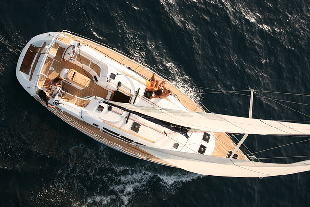 Famed naval architect Philippe Briand graced the Jeanneau Sun Odyssey 49i ...