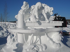 Team Finland's snow sculpture at Shipyard's Park