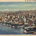 Air View of Seattle Washington postcard