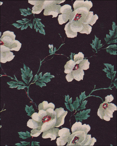 1949 black floral wallpaper flickr photo sharing for Floral wallpaper for home