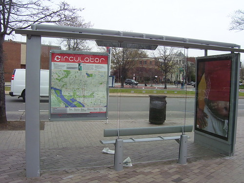 Map for the DC Circulator bus at a bus shelter