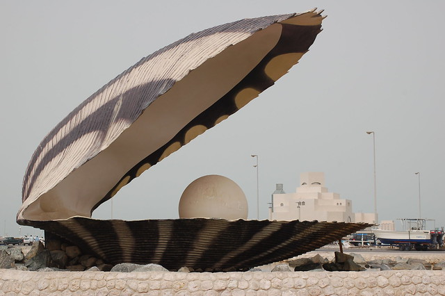 Ugly pearl statue in Doha, by Erik (HASH) Hersman