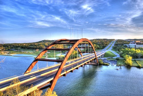 bridge blue sky lake color nature water clouds austin river landscape nikon rust texas rusty rusted hdr highdynamicrange lakeaustin archedbridge loop360 pennybackerbridge photomatix rustybridge rustedbridge loop360bridge d40x nomadicpursuits smashingdownloads