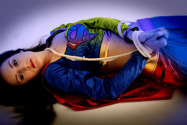 Italian girls supergirl tied up naked