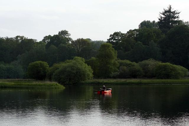 Fisherman on Loch Ken