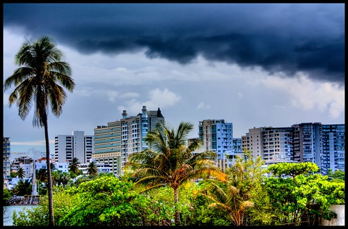 skyline clouds cloudy puertorico sanjuan palmtrees hdr santurce scoreme36 3px