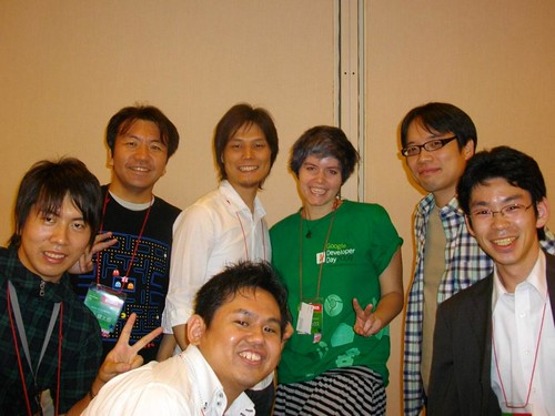 Pamela Fox and maps developers in Japan