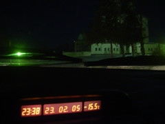 Temperatura -15.5 durante uma das noites mais quentes na Rússia em Fevereiro 2005
