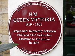 Photo of Victoria claret plaque