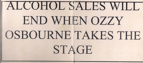 06/22/96 OzzFest @ Minneapolis, MN (Laminated Vendor Booth Sign)