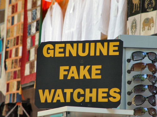 Genuine Fake Sign