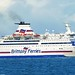 mv Bretagne, Brittany Ferries, off St Malo, Brittany, France