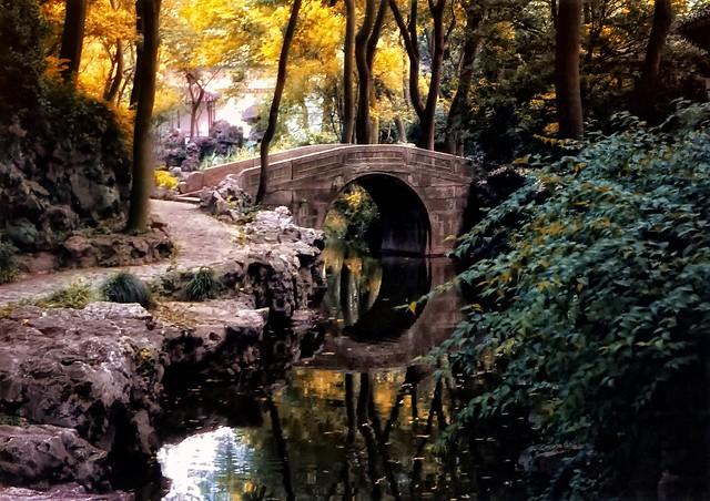 Moon Bridge with Stream