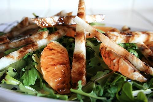 Arugula, Clementine, and Jicama Salad w/ Balsamic Reduction