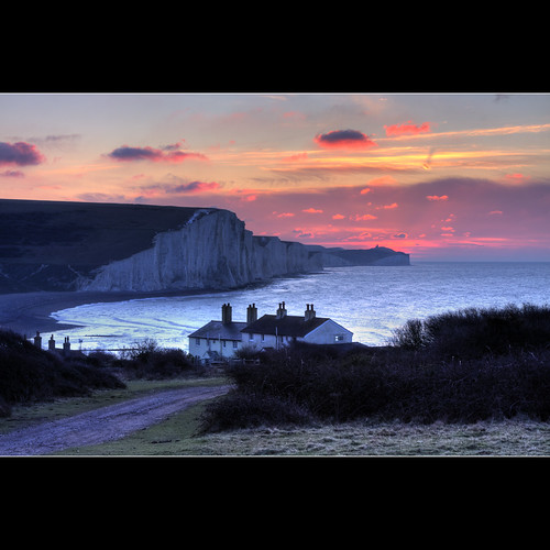 coastguard sunrise geotagged chalk cliffs explore 300 sevensisters cottages blueribbonwinner explored bej gloriousfool geo:lon=014297 vosplusbellesphotos reallymustgetsomenewlocations geo:lat=50759056