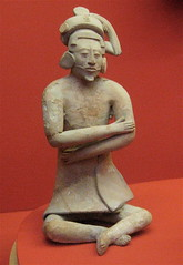 Seated Figure with Plumed Headdress