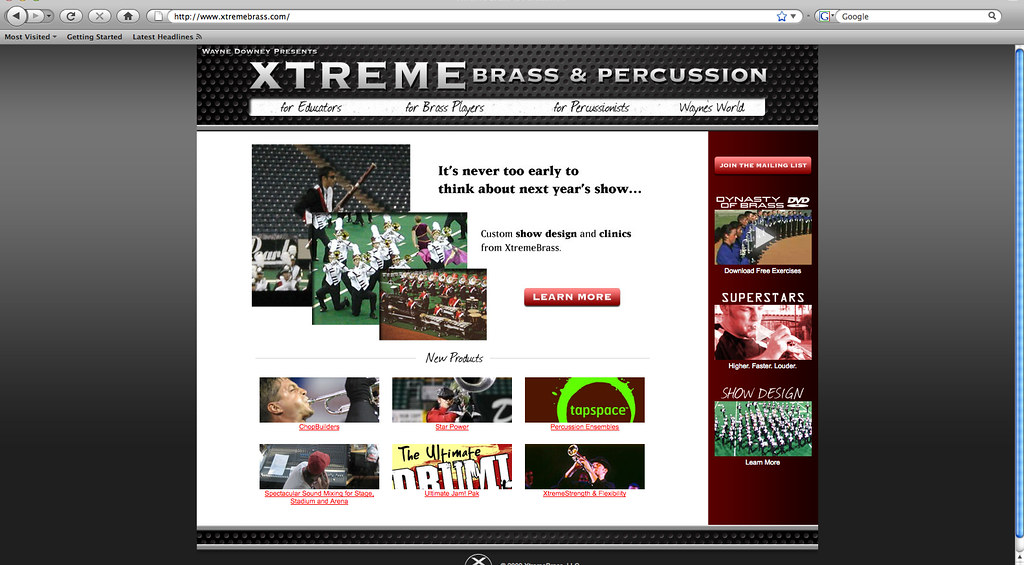 Xtreme Brass | My picture was on the Extreme Brass homepage