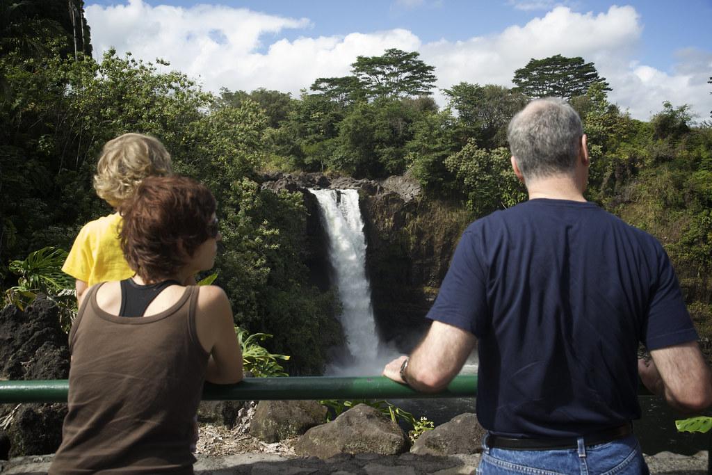 Lorenz, Sis, & David at Rainbow Falls