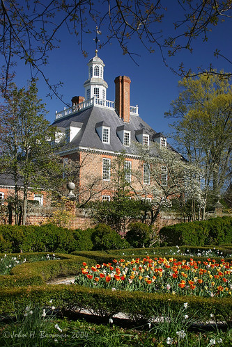virginia williamsburg colonialwilliamsburg cwbuildings governorspalace gardens cwgardens governorspalacegardens flowers tulips springblossoms april2004 april 2004