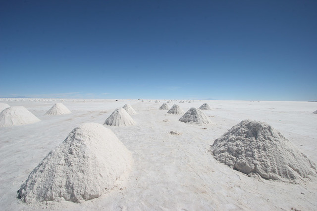 Salt piles near Colchani