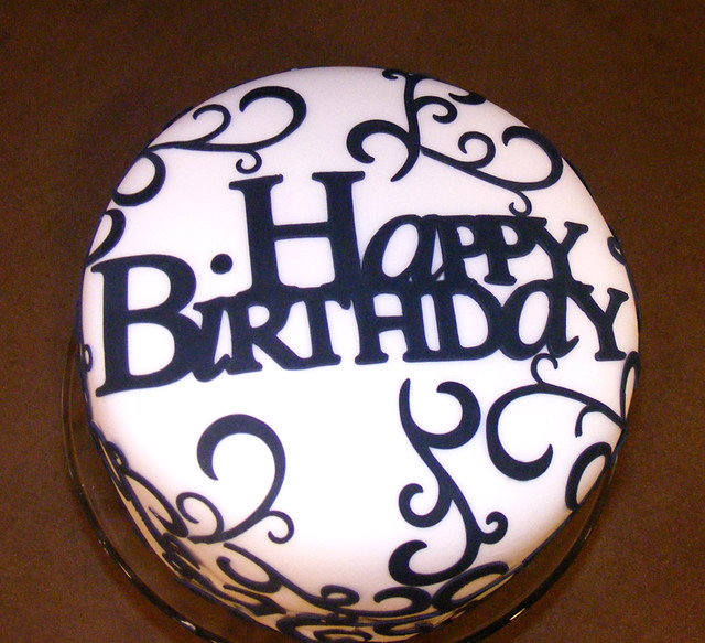 Elegant Birthday Cake Dolce