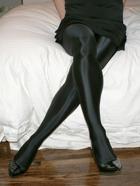 Shiny Opaque Pantyhose