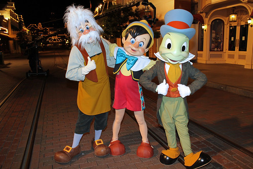 Geppetto, Pinocchio and Jiminy Cricket