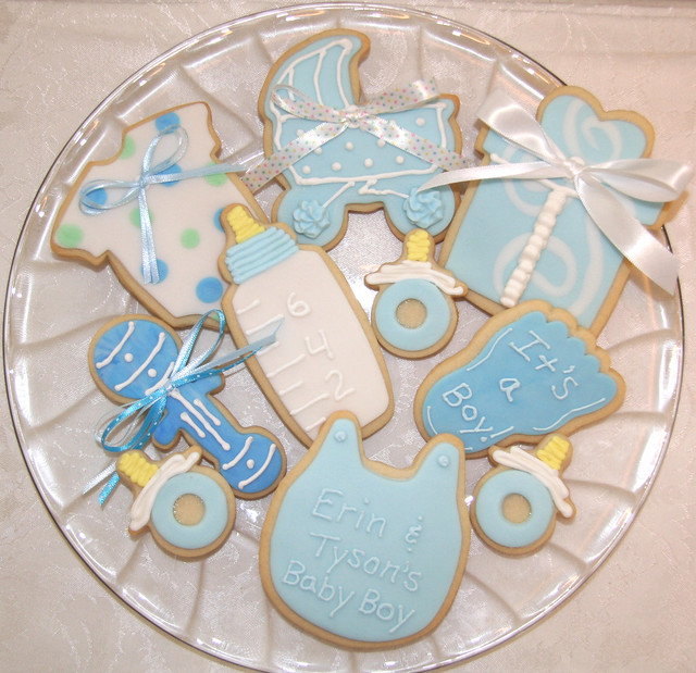 Edible Baby Shower Decorations For Cakes