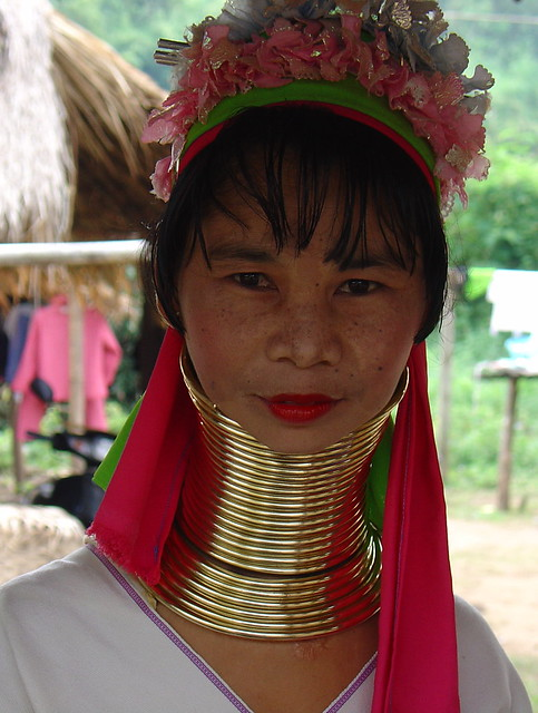 long neck in thailand Neck rings the karen padaung believe that a long neck is a sign of beauty, and they use neck rings made of brass to stretch the neck of the women of the tribe.