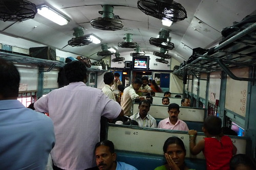 On the train from Varkala to Kollum, India
