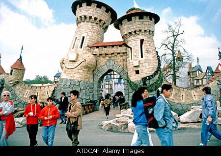 Paris france plailly entrance to parc asterix french for Amusement parks in paris