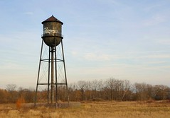 Abandoned water tower - WWII munitions factory brownfield site, Mississauga, Ontario
