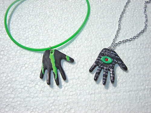 Duo of Monster Hands ~ Recycled Aluminum Cans by Urban Woodswalker