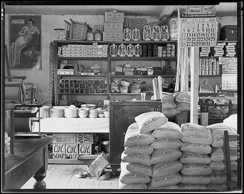General store interior. Moundville, Alabama (LOC)