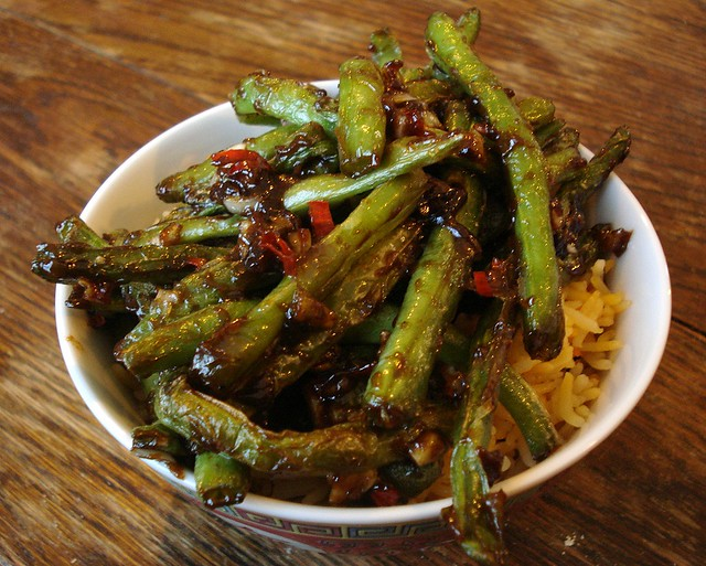 Dry-fried green beans with hoisin sauce and garlic | Flickr - Photo ...