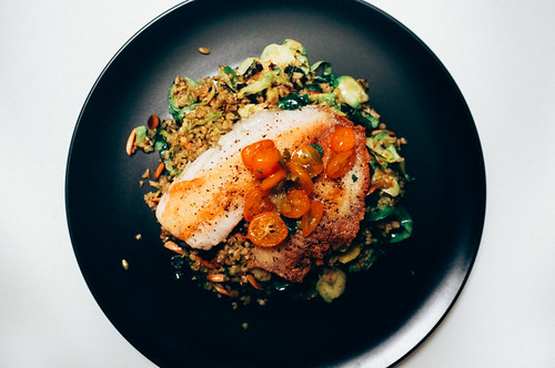 Kumquat-Lime Glazed Tilapia