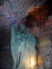 pit cave(0.0), caving(0.0), ice cave(1.0), stalactite(1.0), speleothem(1.0), cave(1.0), stalagmite(1.0),