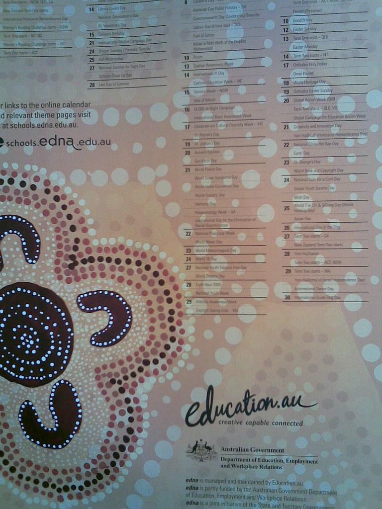 Australian School Calendar